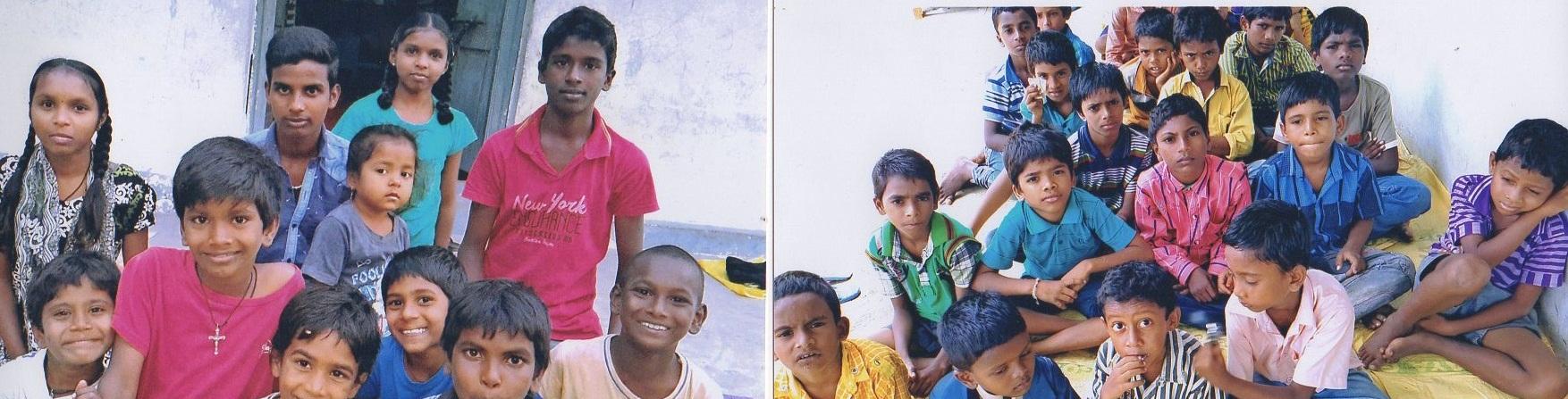 Rozwesel smutne oczy Kanyi i Manasy z Indii